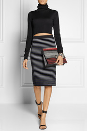 Proenza Schouler Lunch Bag large jacquard and leather clutch