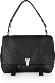 PS Courier large textured-leather shoulder bag