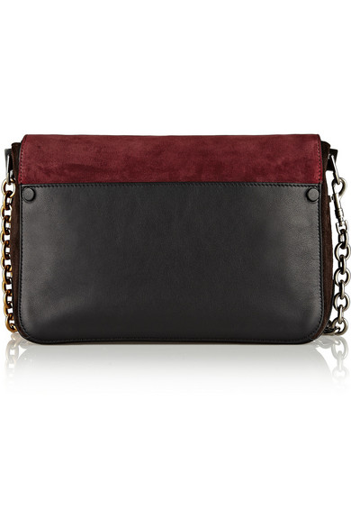 Ps Courier Small Suede And Leather Shoulder Bag