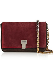 Proenza Schouler PS Courier small suede and leather shoulder bag