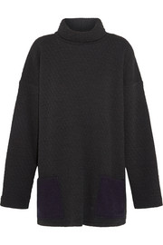 1205 Harbour waffle-knit wool-jersey top