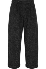 1205 Cropped bouclé wide-leg pants