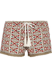 Talitha Pia embroidered cotton shorts