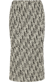 Rochas Wool-blend tweed midi skirt
