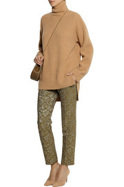 Rochas Ribbed cashmere turtleneck sweater