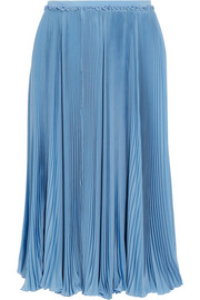 Rochas Pleated silk crepe de chine skirt