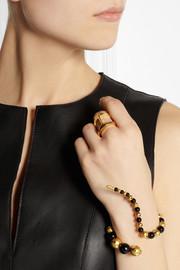 Paula MendozaJoos gold-plated and onyx bracelet
