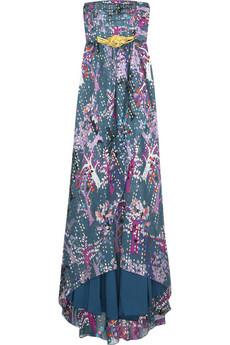 Tibi Silk Lurex printed gown