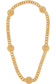 Versace Embossed gold-plated necklace
