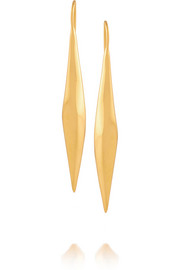 Maiyet Organic Drop gold-plated earrings