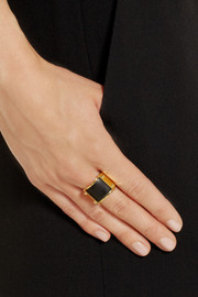 Maiyet Double Truss gold-plated horn ring