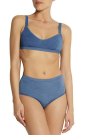 Base Range Stretch-bamboo soft-cup bra