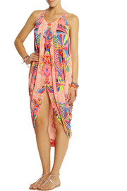 Mara Hoffman Printed chiffon beach dress