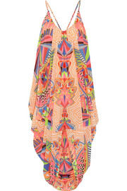 Printed chiffon beach dress