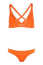 Ephemera Citrus Twist mesh-paneled triangle bikini