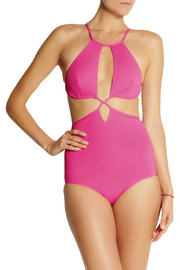 Ephemera Pasteque Split cutout swimsuit