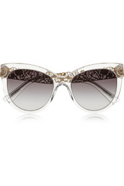 Dolce & Gabbana Cat eye acetate sunglasses