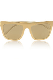 Dolce & Gabbana Gold-plated D-frame mirrored sunglasses