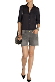 Frame Denim Le Cutoff stretch-denim shorts