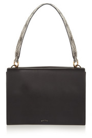 Maiyet Amonet watersnake-trimmed leather shoulder bag