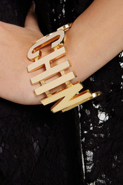 Moschino + V&A gold-plated cuff