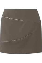 Jay Ahr Zip-detailed crepe mini skirt