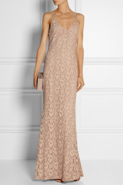 Alice + Olivia Laura cotton-blend lace maxi dress