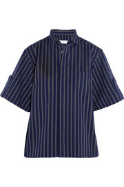 Toga Striped cotton-twill shirt