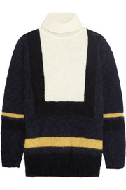 Toga Intarsia wool-blend turtleneck sweater