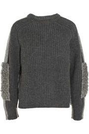 Toga Contrast-knit wool-blend sweater