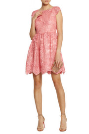 Alice + Olivia Zenden embroidered lace mini dress
