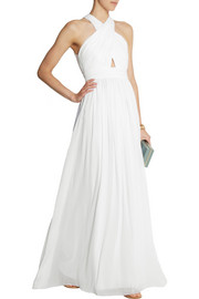 Alice + Olivia Jaelyn cutout chiffon maxi dress