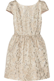 Alice + Olivia Nelly metallic jacquard dress