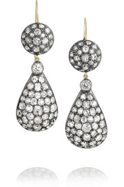 Olivia Collings 1970s silver diamond earrings
