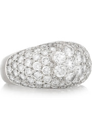 Olivia Collings 1940s platinum diamond ring