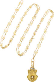 Olivia Collings 1860s 18-karat gold locket necklace