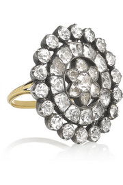 Olivia Collings 1840s 18-karat gold topaz ring