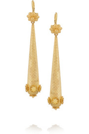Olivia Collings 1820s 18-karat gold earrings