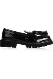 MSGM Patent-leather loafers