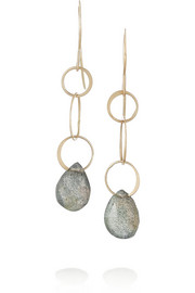 14-karat gold labradorite earrings