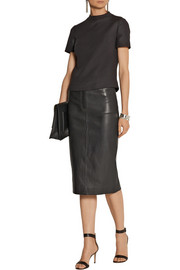 Joseph Clan leather pencil skirt