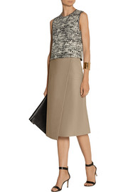 Joseph Charlene wrap-effect leather midi skirt