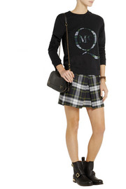 McQ Alexander McQueen Checked wool mini skirt