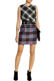 McQ Alexander McQueen Draped tartan wool mini dress