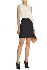 McQ Alexander McQueen Two-tone draped twill mini dress