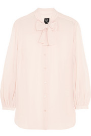McQ Alexander McQueen Pussy-bow georgette blouse
