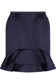 McQ Alexander McQueen Ruffled satin mini skirt