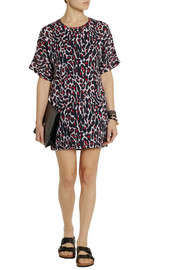 McQ Alexander McQueen Leopard-print silk and cotton-jersey mini dress