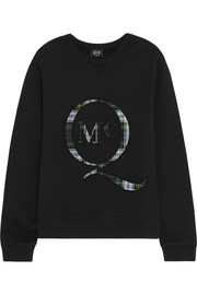 McQ Alexander McQueen Appliquéd cotton-fleece sweatshirt
