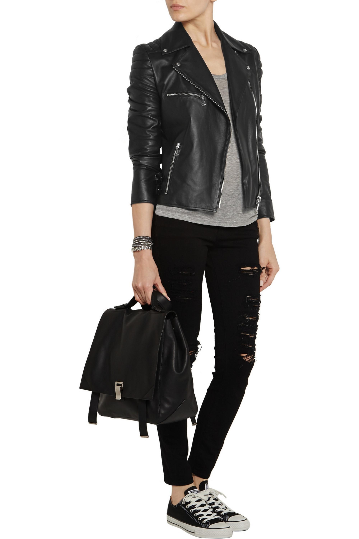 McQ Alexander McQueen Quilted leather biker jacket